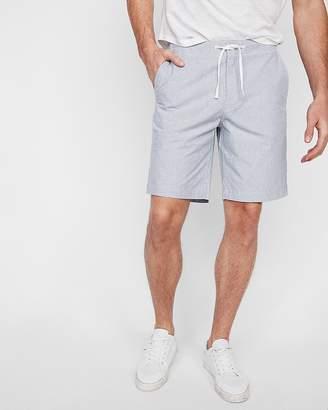 Express 9 Inch Striped Drawstring Shorts