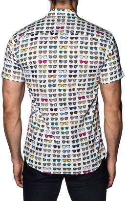 Jared Lang Men's Sunglasses Button-Down Sport Shirt