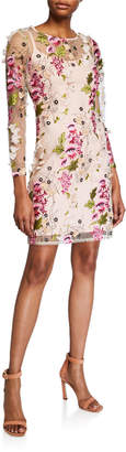 Stella Show Stopper Floral Embroidered Mesh Dress