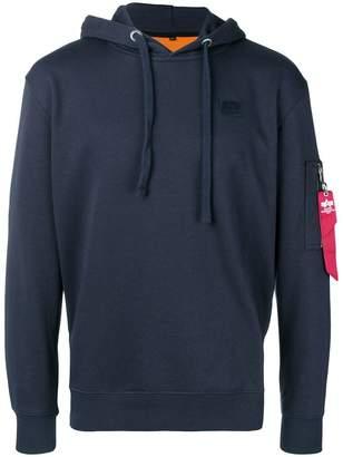 Alpha Industries zipped sleeve pocket hoodie