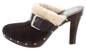 MICHAEL Michael Kors Suede Shearling Clogs