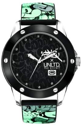 Ecko Unlimited Unisex Quartz Watch with Black Dial Analogue Display and Black Silicone Strap E09530G2