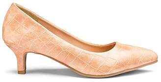 Slip On Kitten Heel Court Shoes Standard D Fit