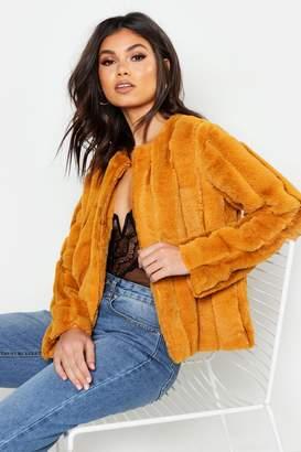 boohoo Panelled Faux Fur Coat