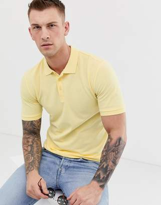 ONLY & SONS pique logo polo in yellow
