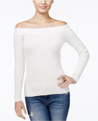 GUESS Off-The-Shoulder Sweater $69 thestylecure.com