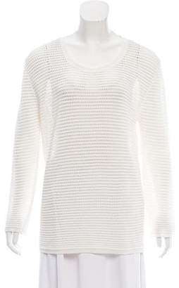 MAISON KITSUNÉ Open Knit Long Sleeve Sweater