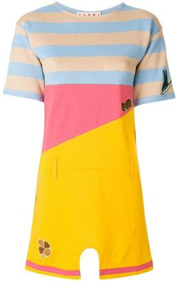 Marni striped colourblock mini T-shirt dress