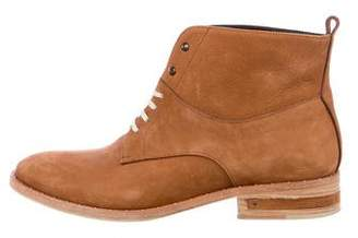 Freda Salvador Suede Lace-Up Ankle Boots