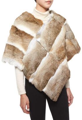 Adrienne Landau Goma Rabbit Fur Poncho $595 thestylecure.com