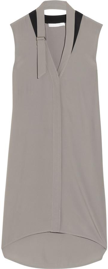 Alexander Wang Open cape-back crepe dress