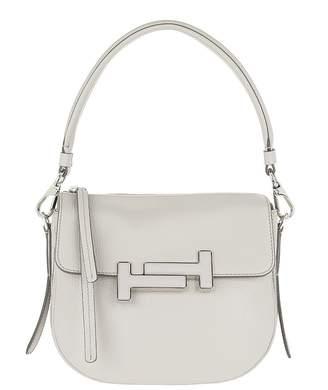 Tod's Double T Mini Gray Crossbody Bag