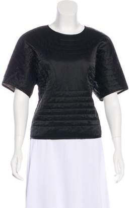Etoile Isabel Marant Quilted Short Sleeve Top