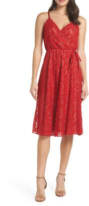 Ali & Jay Cheek to Cheek Lace Midi Dress