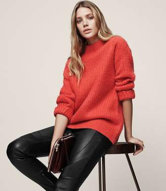 Reiss Annabella Chunky Funnel-Neck Jumper