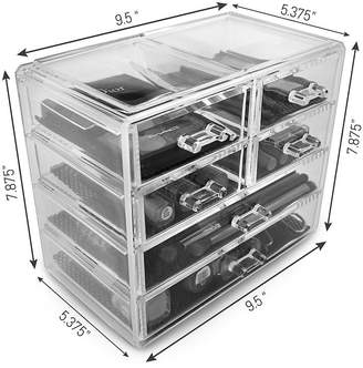SORBUS Sorbus Acrylic Cosmetics Makeup and Jewelry Storage Case Display- 2 Large and 4 Small Drawers Space- Saving