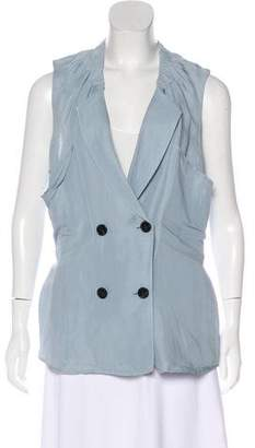 3.1 Phillip Lim Double-Breasted Linen-Blend Vest w/ Tags