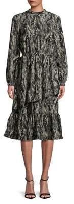 Vero Moda Printed Ruffled Dress