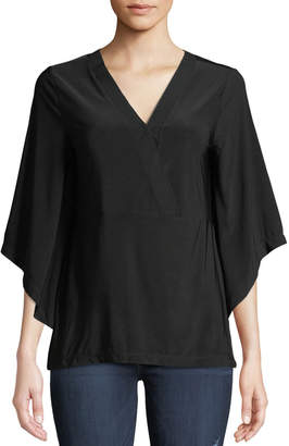 Love Scarlett V-Neck Kimono-Sleeve Blouse