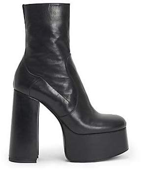 Saint Laurent Women's Billy Platform Leather Boots