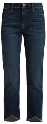 Frame Le High Straight Leg Jeans - Womens - Dark Blue