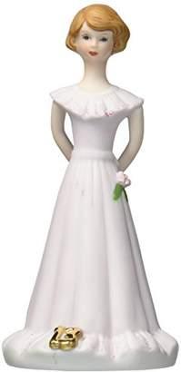 "Enesco Growing Up Girls ""Brunette Age 13"" Porcelain Figurine"