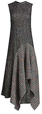 Oscar de la Renta Women's Sleeveless Wool-Blend Handkerchief Dress