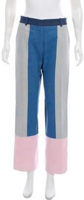 Celine Colorblock Mid-Rise Jeans