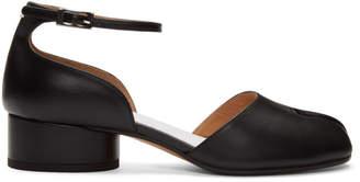 Maison Margiela Black Tabi Ankle Strap Heels