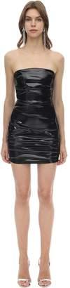 Alex Perry Strapless Techno Vinyl Mini Dress
