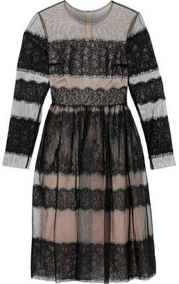 3cb19842ce383 Mikael Aghal Lace-paneled Tulle Dress