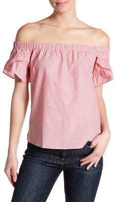 Socialite Off-the-Shoulder Ruffle Sleeve Top