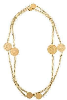 Chanel Coco Coin Long Necklace