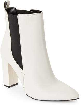 Vince Camuto Off-White Britsy Leather Booties
