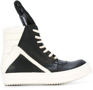 Rick Owens 'Geo Basket' sneakers $1,097 thestylecure.com