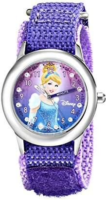 Disney Kids' W000390 Cinderella Glitz Stainless Steel Time Teacher Watch With Nylon Band