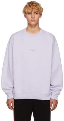Acne Studios Purple Stellie Logo Sweatshirt