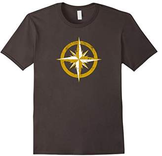 Vintage Compass Rose T Shirt For Boat Lovers and Sailors