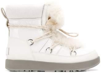 UGG (アグ) - Ugg Australia fur lace-up boots