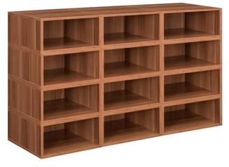 Cubo Niche Storage Set- 12 Half Size Cubes- Warm Cherry