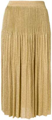 M Missoni pleated lurex midi skirt