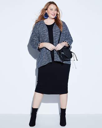 Bobeau Plus Maren Pompom Trim Kimono Jacket, Plus Size