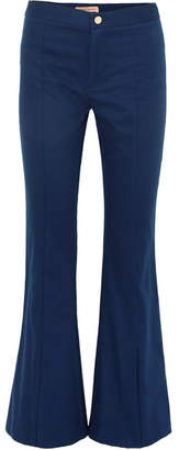 Maggie Marilyn - She's Still A Dreamer Cotton Flared Pants - Navy