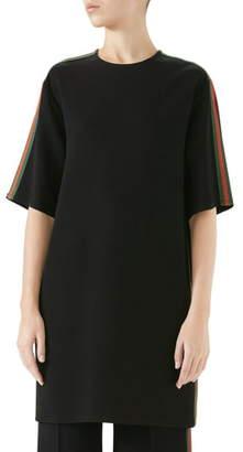 97631f5e52 Gucci Side Stripe Cady Tunic Dress