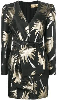 MSGM Palm tree structured dress
