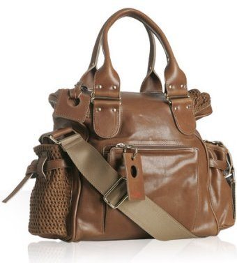 Chloe brown leather 'Ada' shopping bag