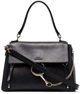 Chloé black Faye Day medium leather shoulder bag