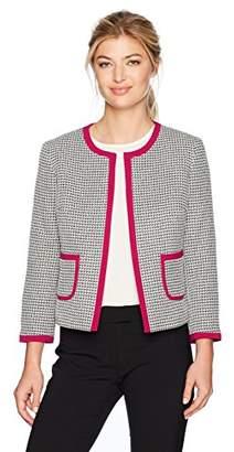 Nine West Women's Tweed Framed Jacket with Pockets