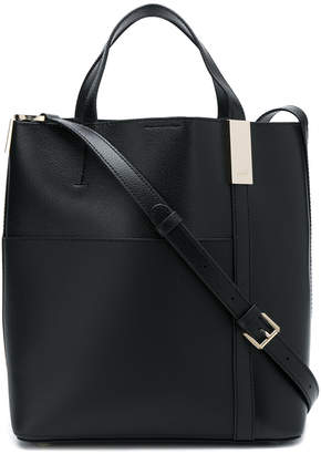 DKNY textured panel tote bag