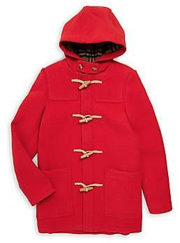 Burberry Women's Little Girl's & Girl's KG6 Burford Wool Peacoat